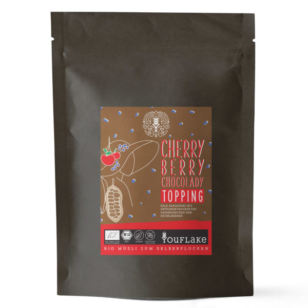YouFlake Cherry Berry Chocolady Topping Bio Bigpack Front
