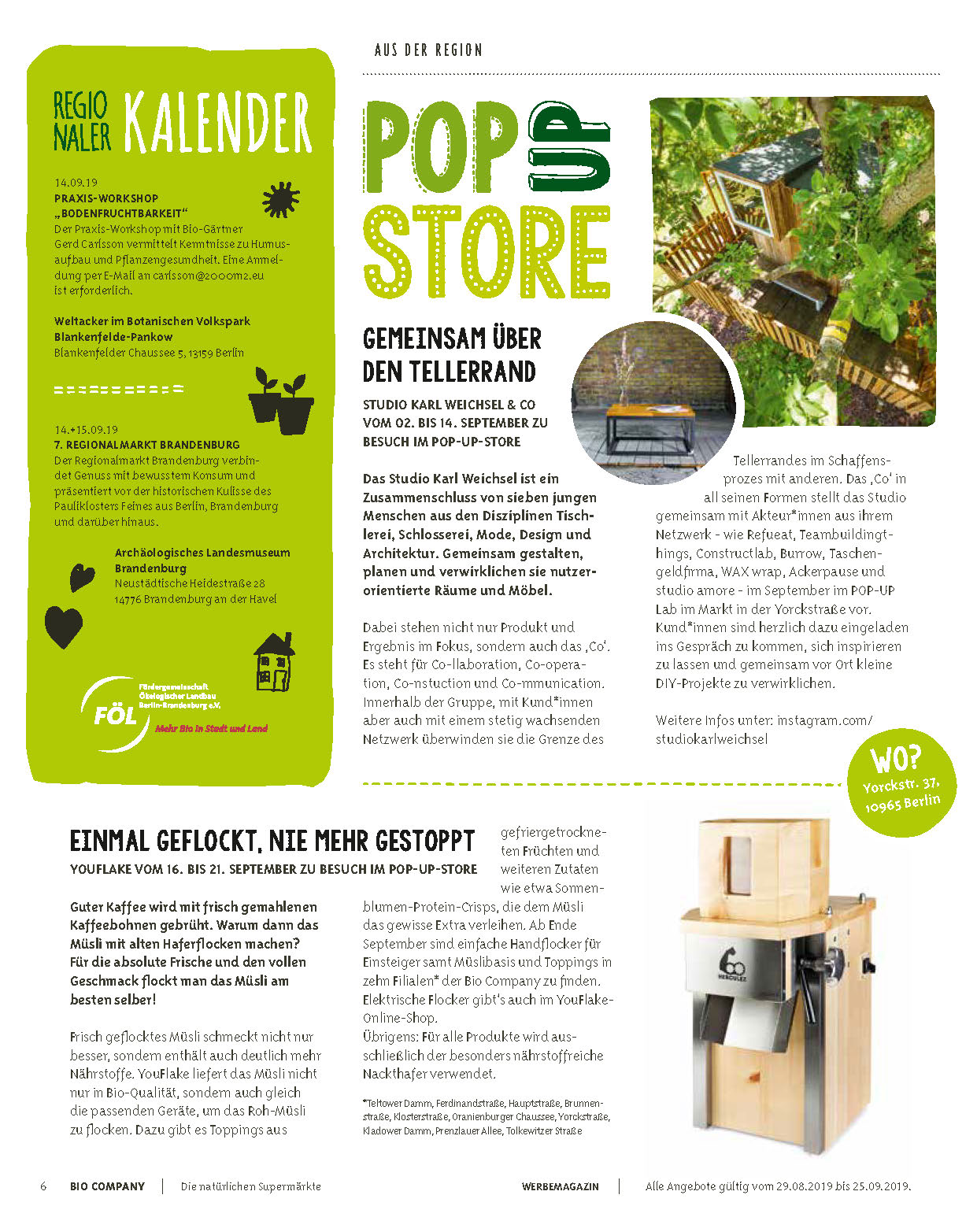 YouFlake im Bio Company Kundenmagazin