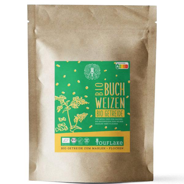 YouFlake Bio Buchweizen BIO Getreide 2,5 kg Vorderseite